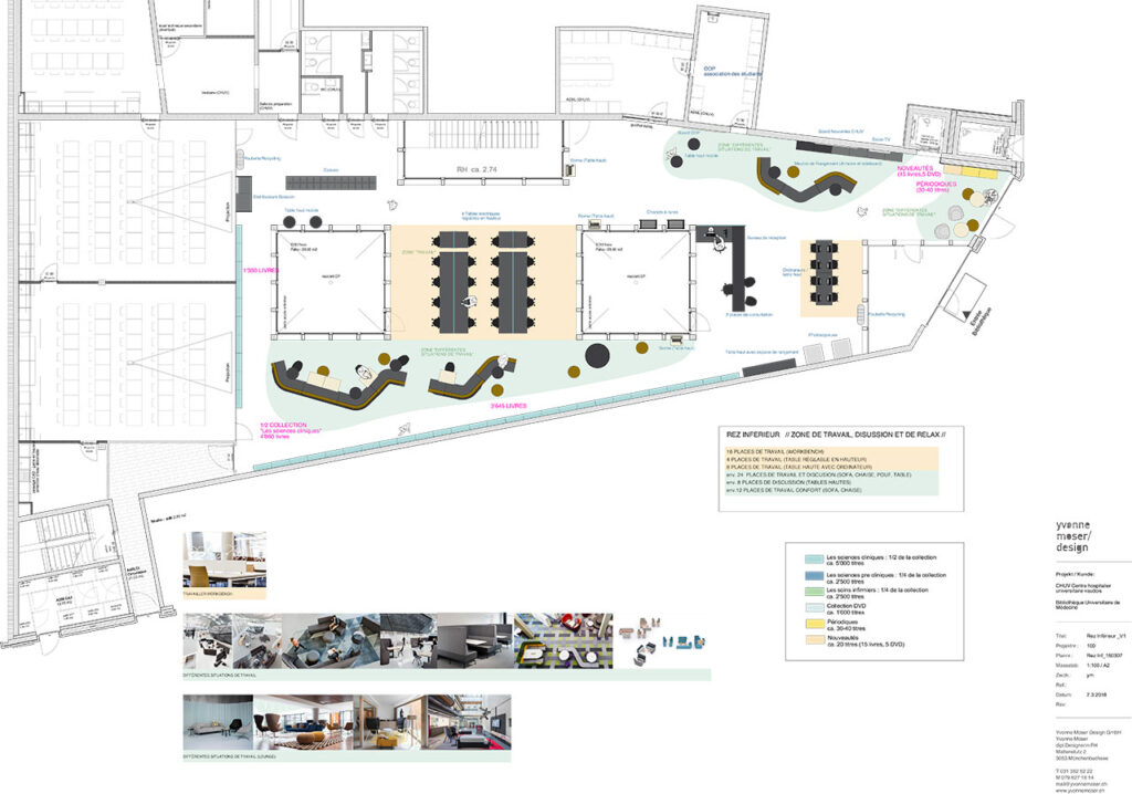 Innenarchitektur-Plan University-Library-of-Medicine-CHUV-BIUM